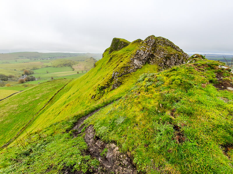 Walking along ridge of Chrome Hill