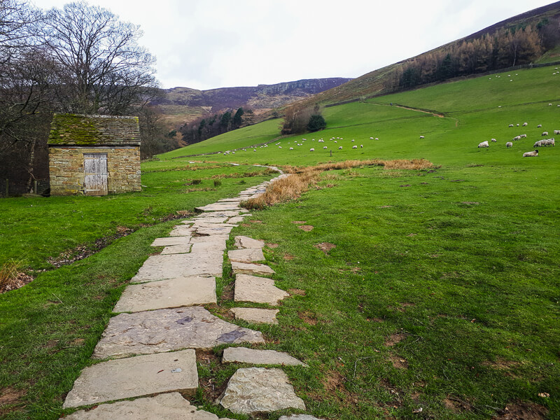 Flagstones on the way out of Edale