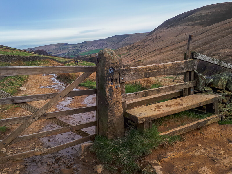 Gate on the Pennine Way