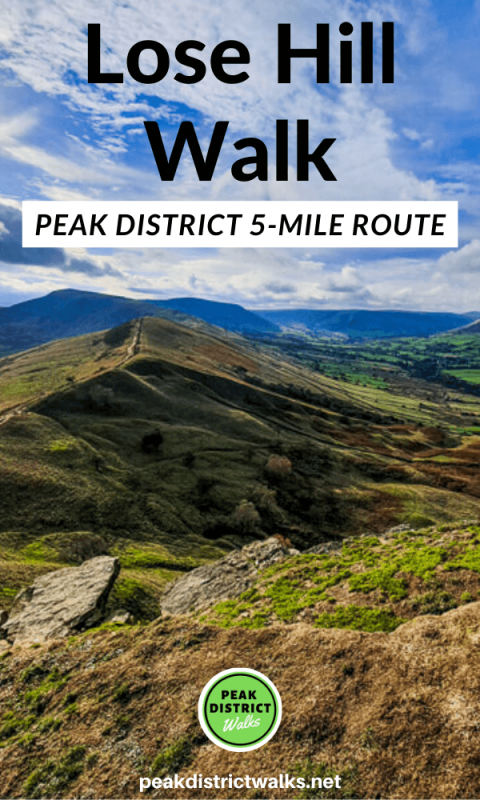 Lose Hill walk from Castleton in the Peak District 1