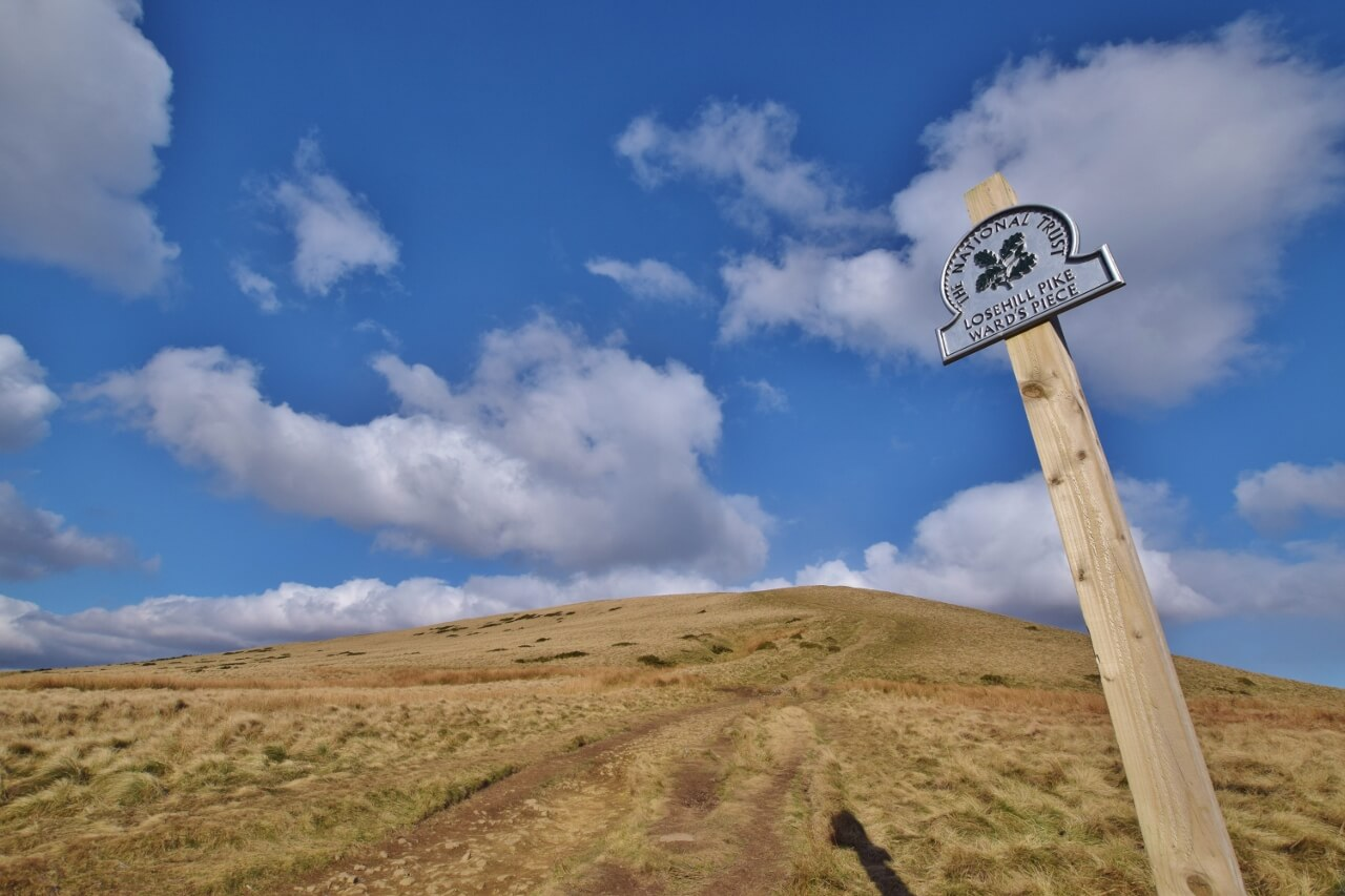 Sign at the bottom of Lose Hill