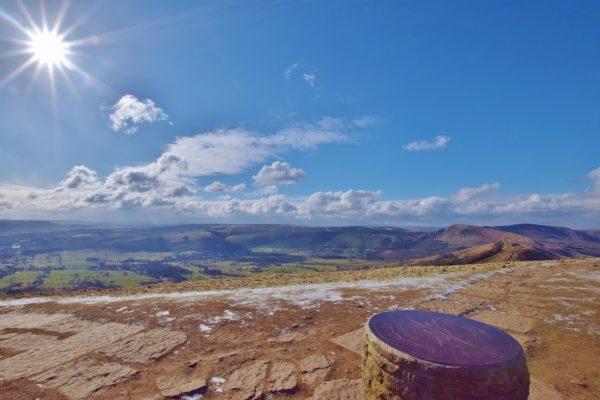 Lose Hill summit, walk from Castleton_Peak District_Castleton in the Peak District
