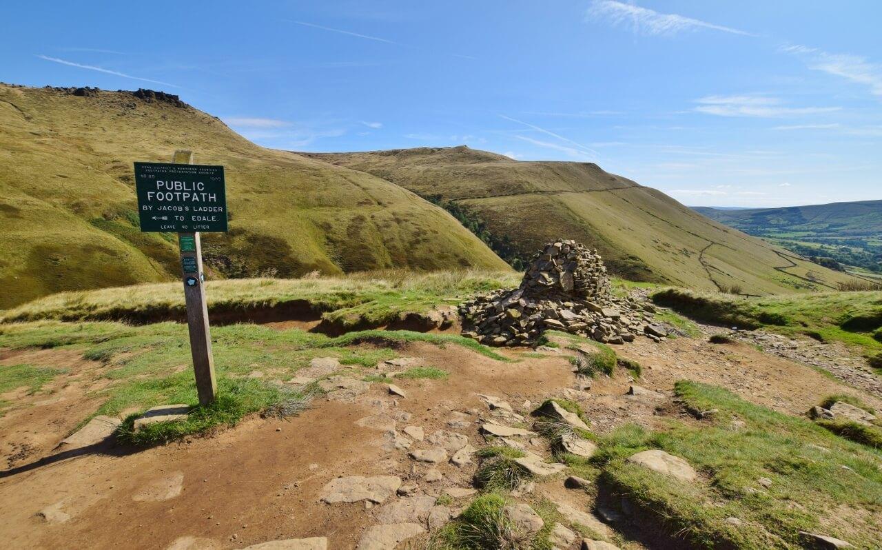 Peak District - Edale via Jacobs Ladder Kinder Scout