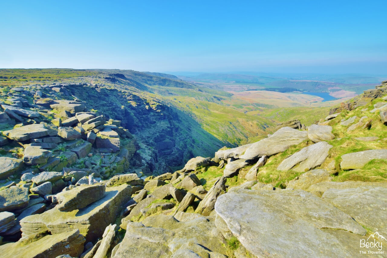 Views from Kinder Plateau from Edale
