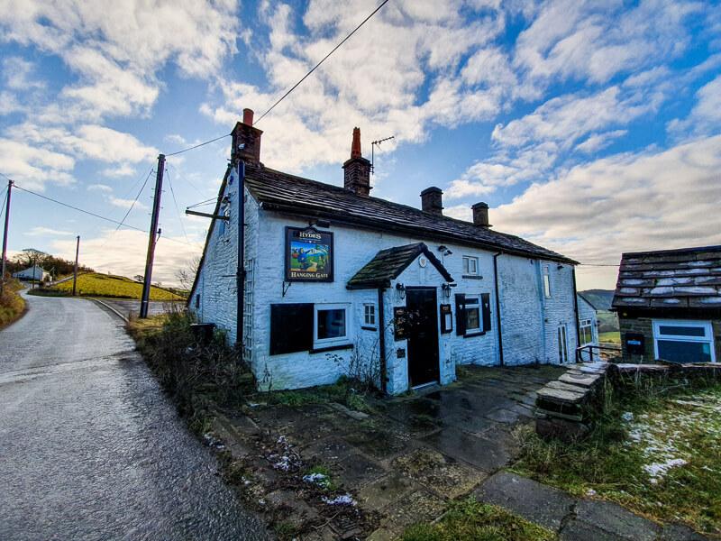 Shutlingsloe walk - closed pub