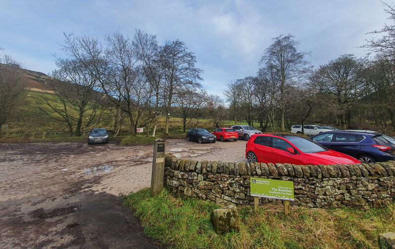 Gradbach car park Peak District