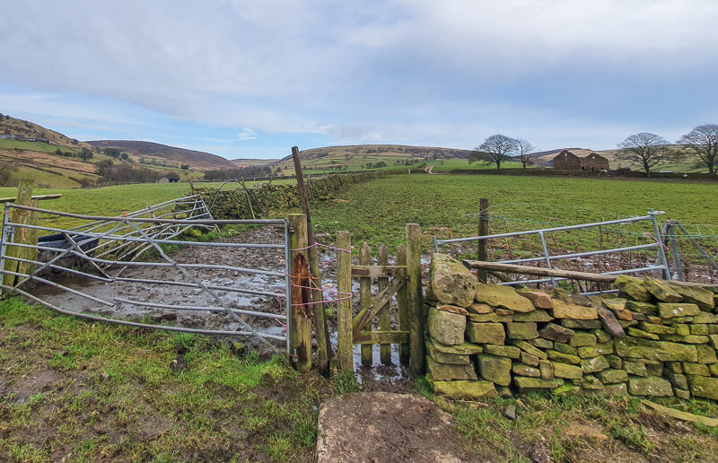 Small gate across the fields