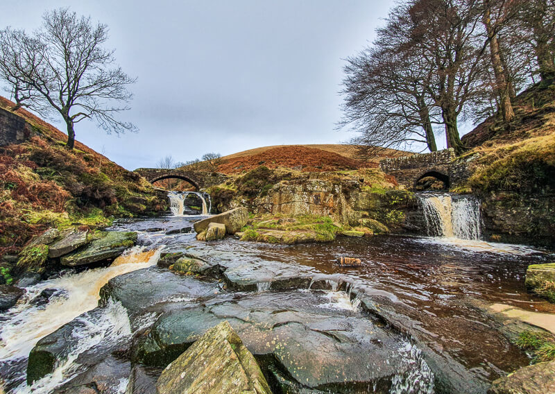 Three Shires Head in the Peak District