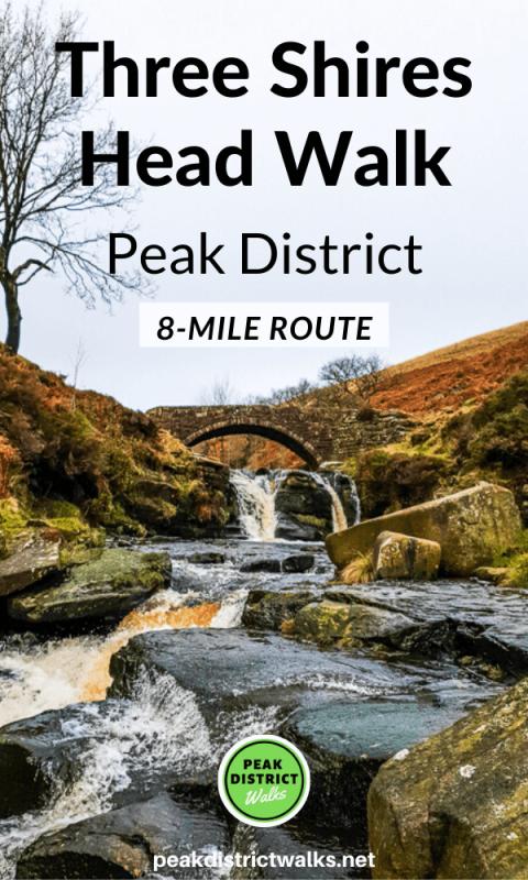Three Shires Head waterfall Peak District
