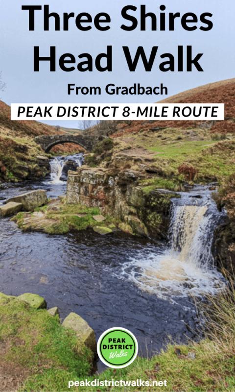 Three Shires Head waterfalls Peak District