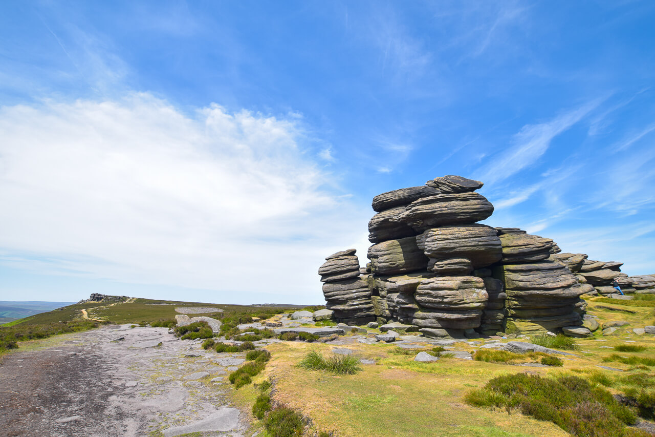 Wheel Stones along Derwent Edge hike, Peak District