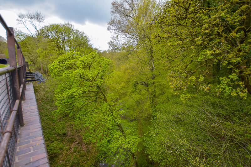 Looking down from the Monsal Trail
