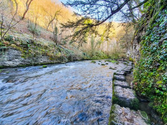 Chee Dale stepping stones walk