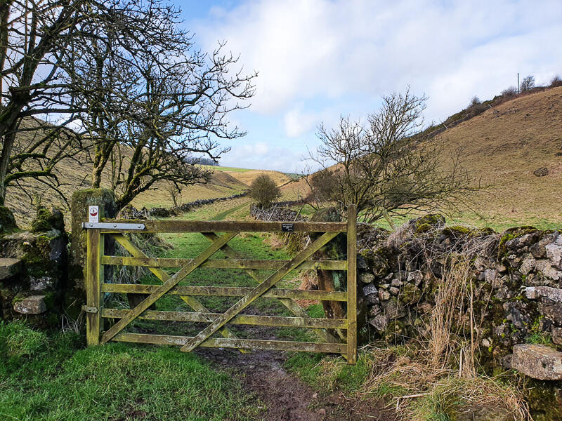 Gate heading to Long Dale
