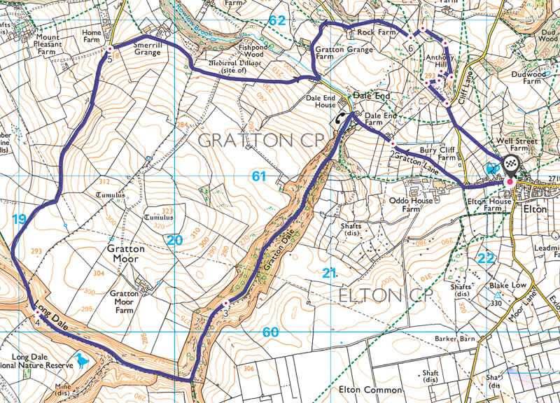 Derbyshire Dales walk map
