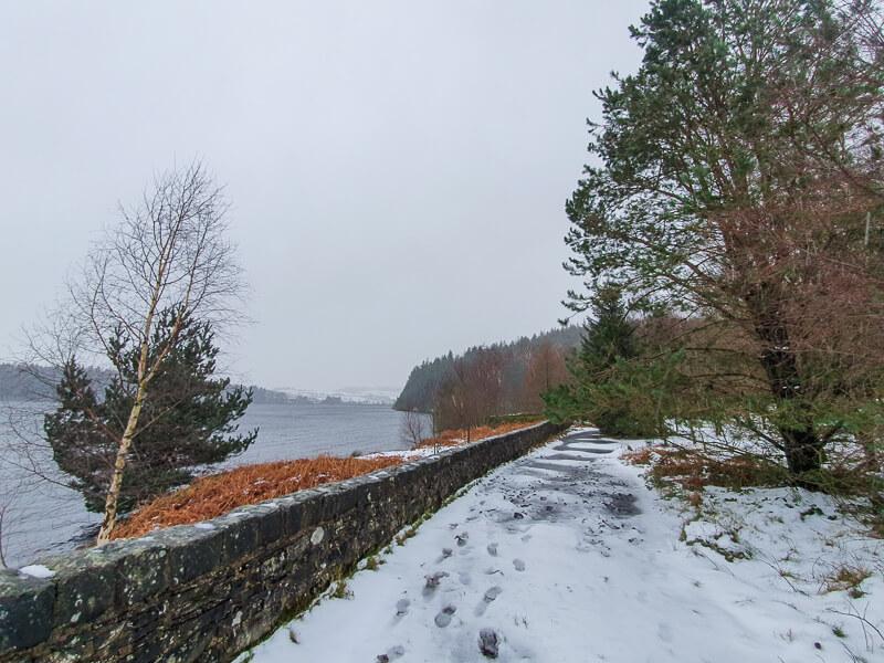 Path alongside Langsett Reservoir