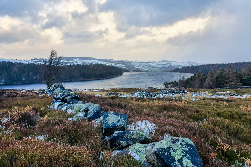 Langsett Reservoir from moorlands