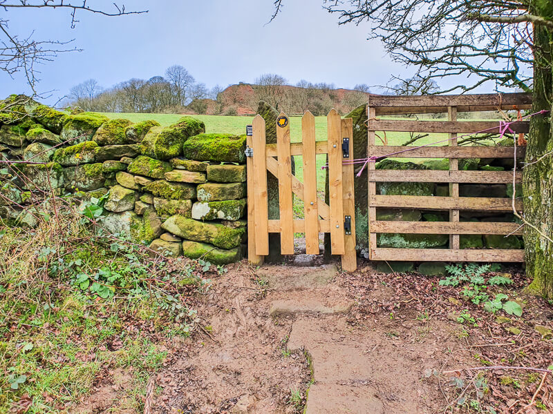 Gate on the route near Anthony Hill