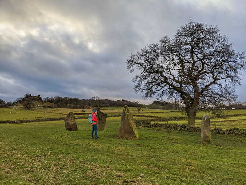 Stone Circle near Robin Hood's Stride