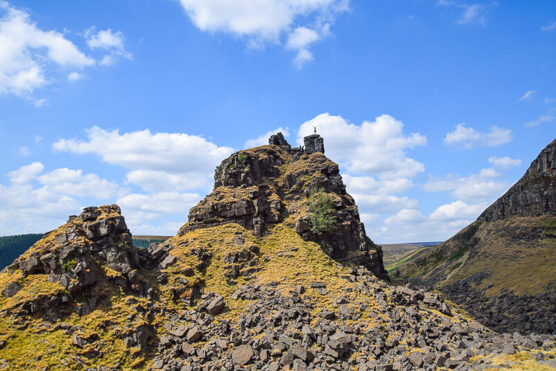 Alport Castles Tower in Peak District