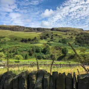Views up to the edge towards Alport Castles