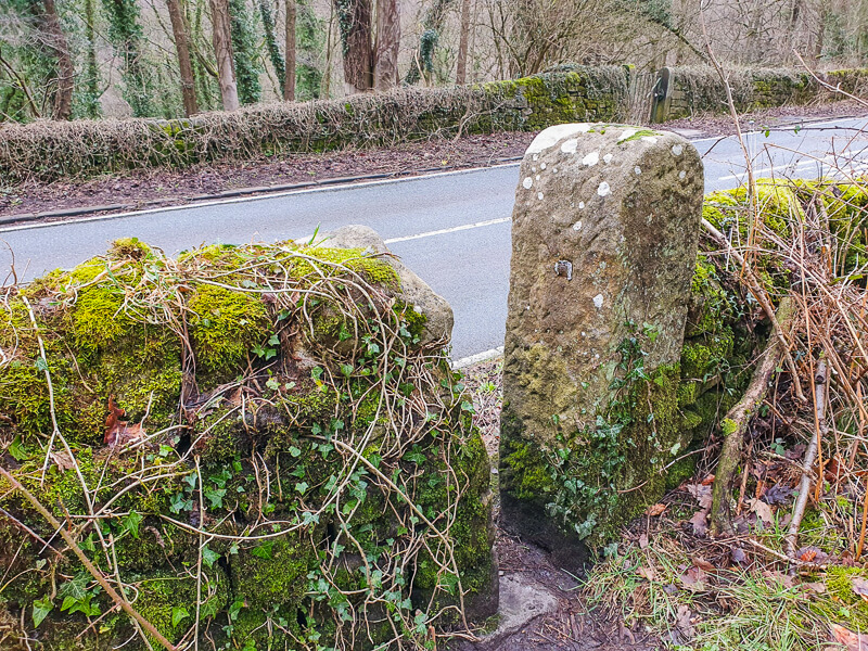 Stone stile leading to road