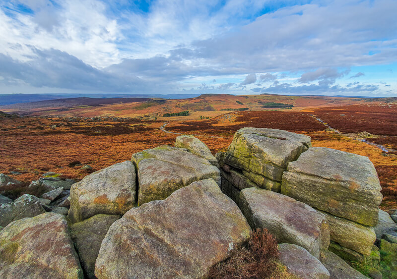 Burbage Edge walk in Peak District
