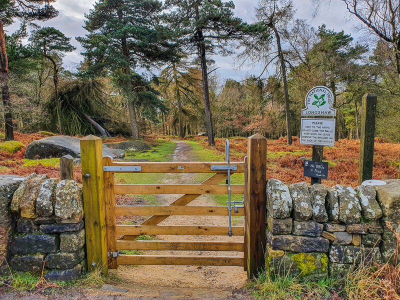 Gate into Longshaw Estate