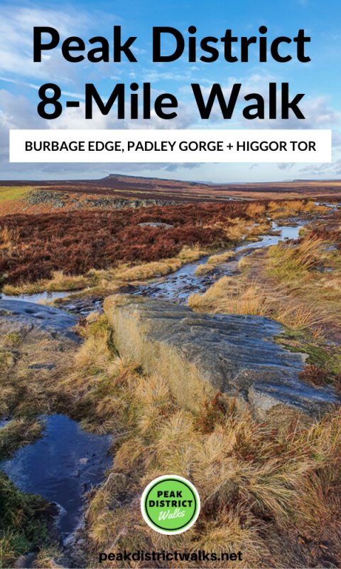 Burbage Edge walk Peak District
