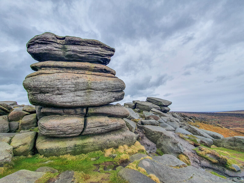 Over Owler Tor in Peak District