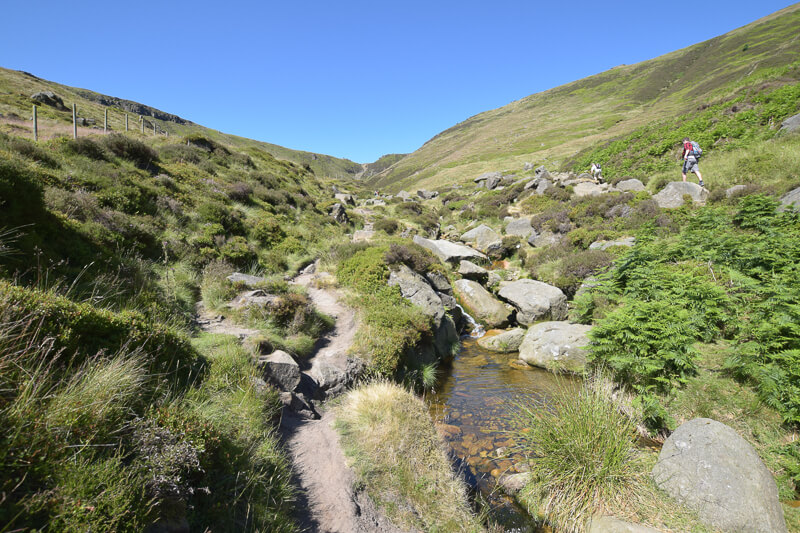 Rocky section up Grindsbrook Clough