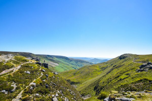 Views from the top of Grindsbrook Clough