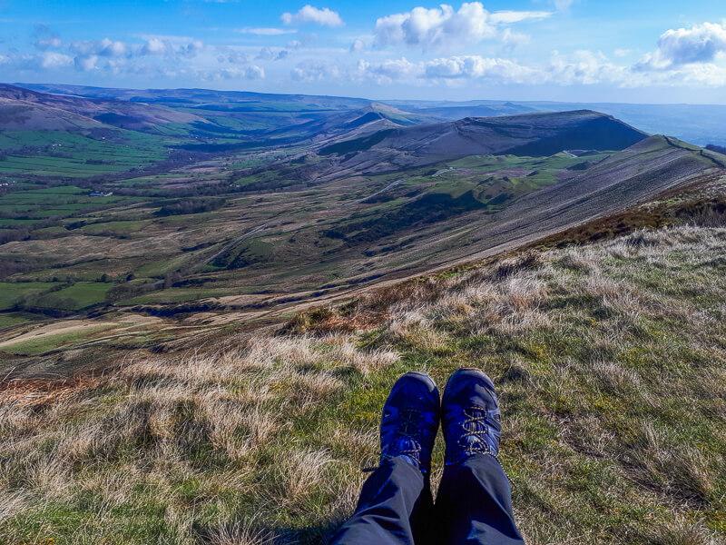 Rushup Edge walk with hiking boots