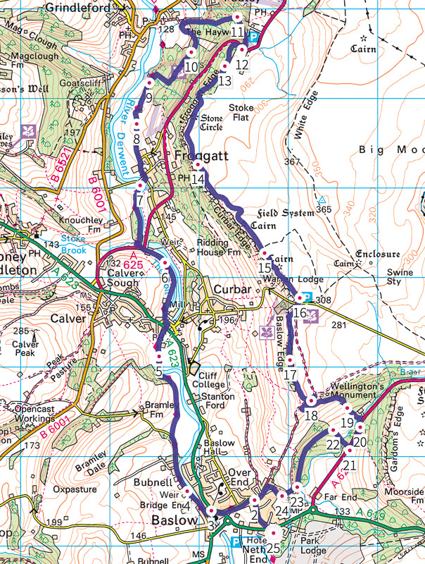 Peak District Map from bas low