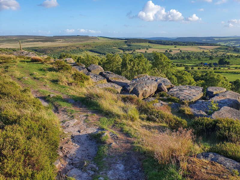 Birchen Edge in Peak District