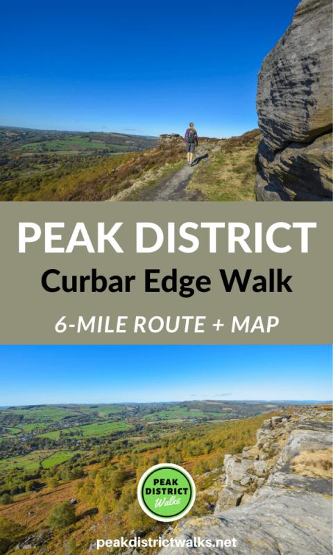 Scenic photos of Curbar Edge in Peak District