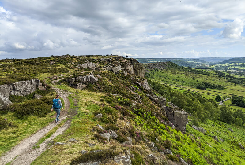 Walking along Curbar Edge