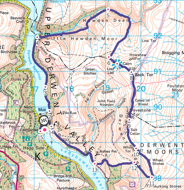Derwent Edge map