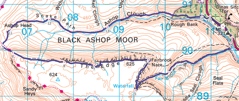 Kinder Scout walk map