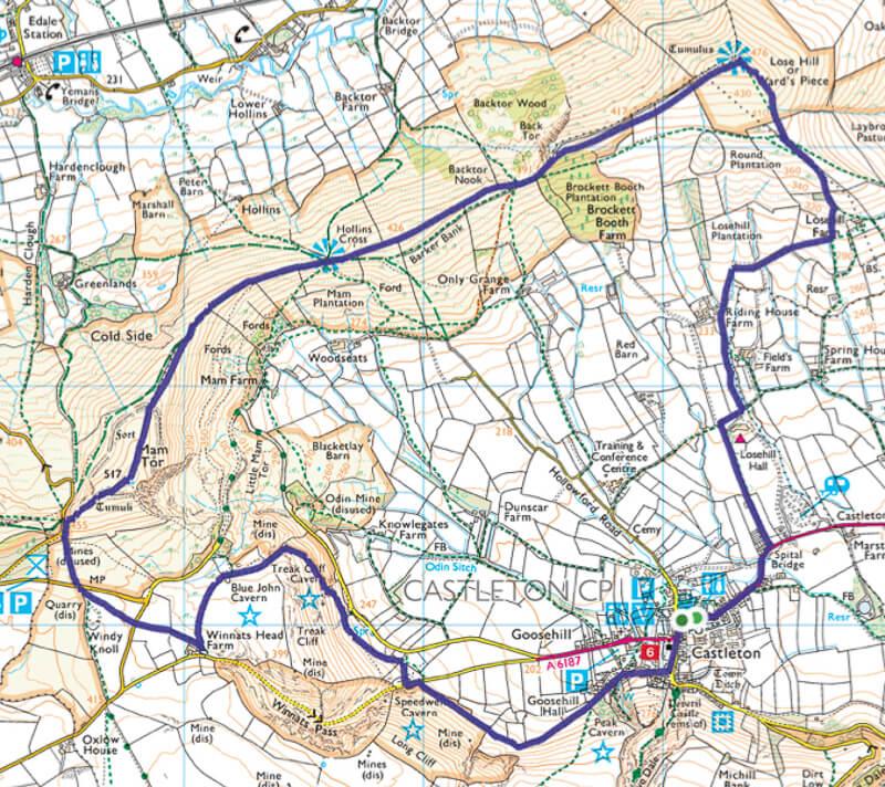 Peak District walk map