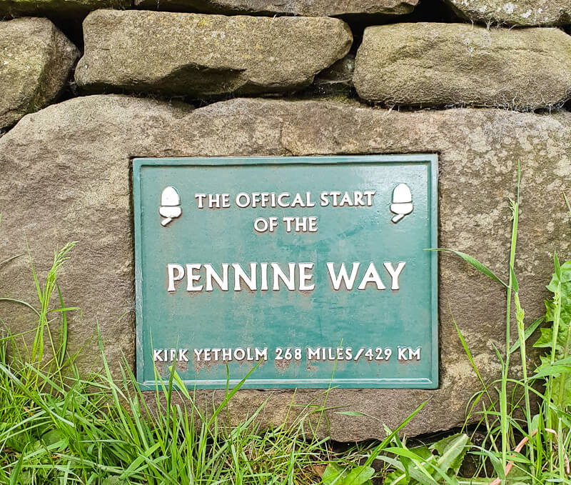 Pennine Way sign