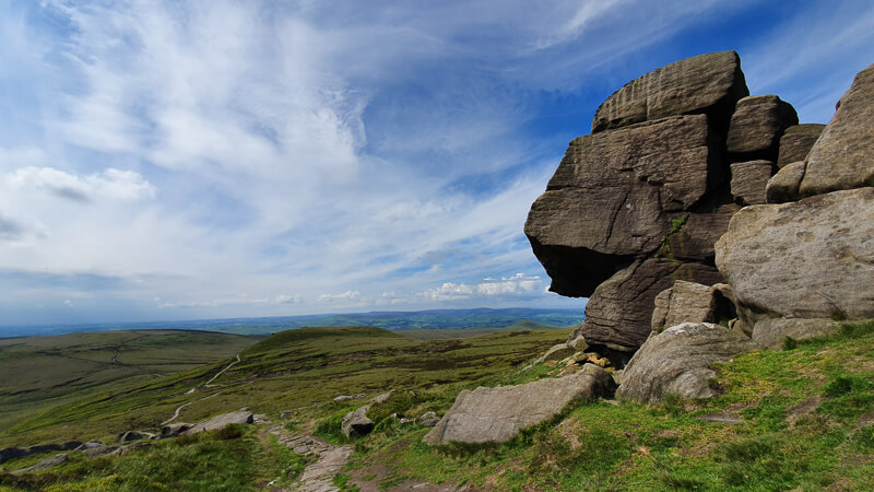 Edale Rocks on Pennine Way