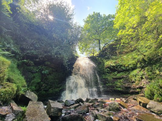 Middle Black Clough waterfall walk