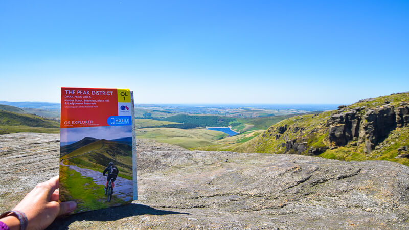 OS Map for Peak District