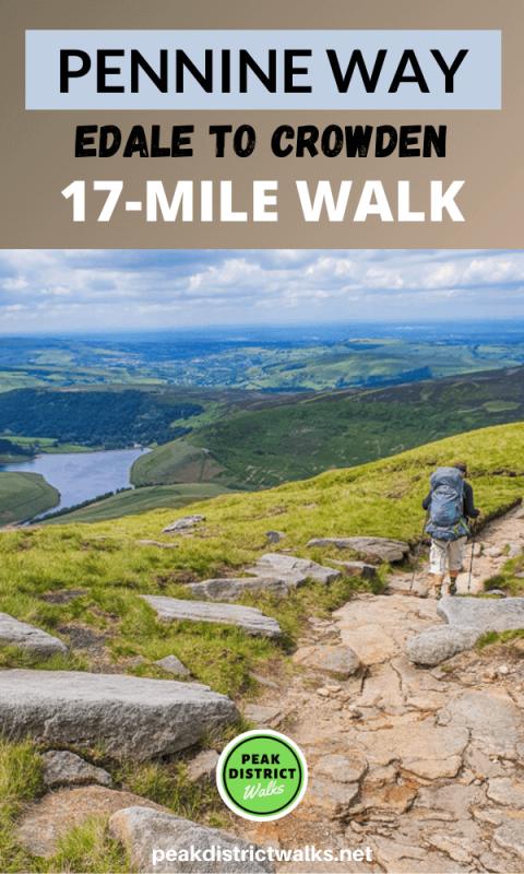Pennine Way path in Peak District