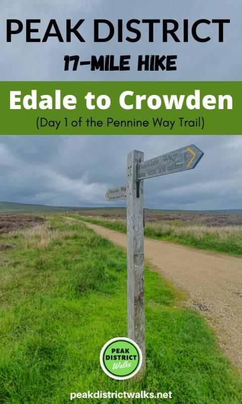 Signpost on Pennine Way Peak District
