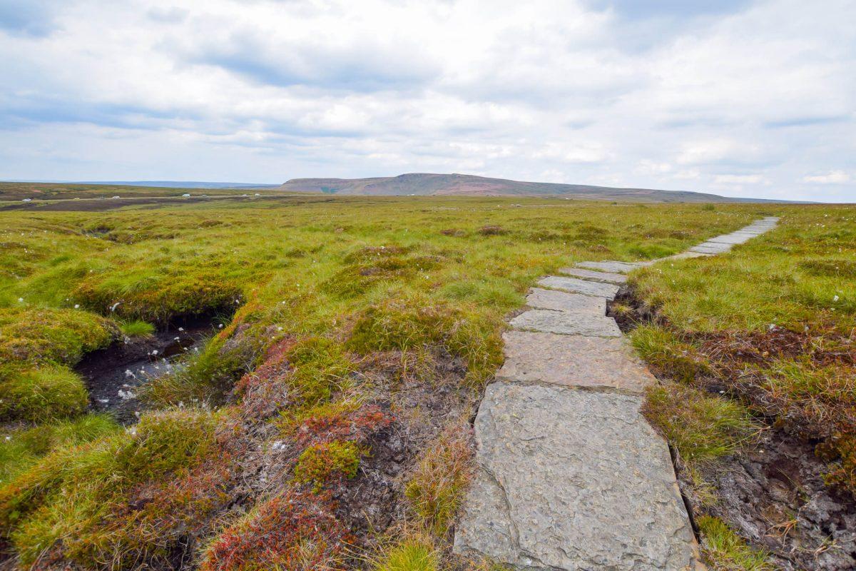 Flagstone path on Pennine Way