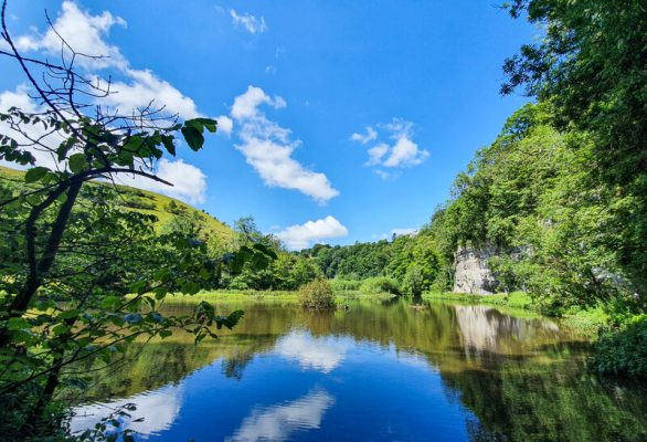 River Wye and blue skies - Tideswell Dale + Miller's Dale walk