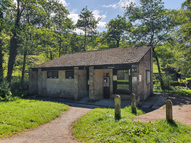 Public toilets at Tideswell Dale Car Park
