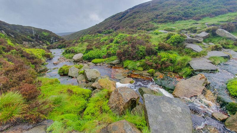 Stream and rocks on Pennine Way